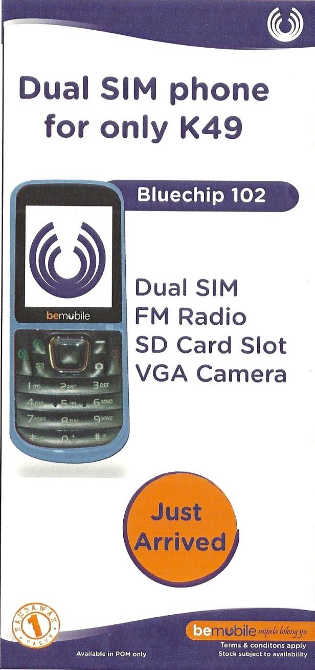 bemobile's new dual SIM phone