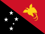 The flag of Papua New Guinea