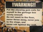 Warning! Not against the wall