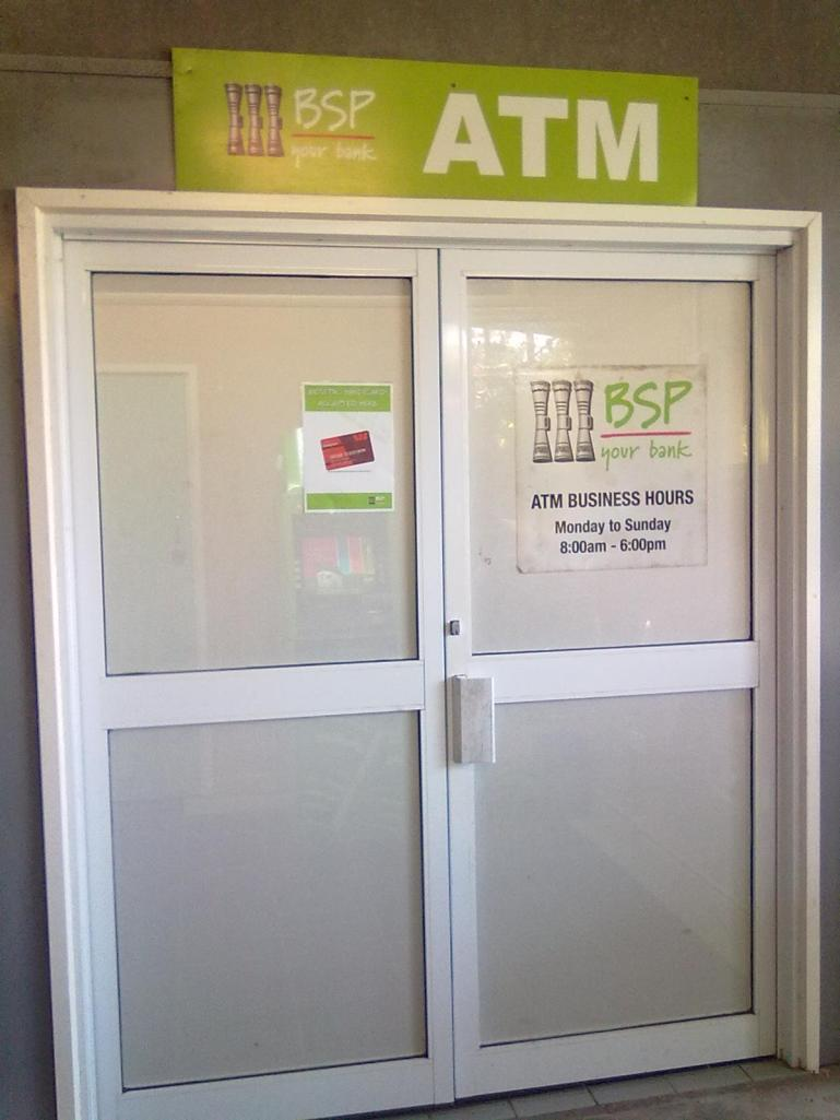 This ATM is hidden under the Court house and many don't know its there.