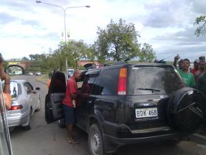 Opportunists ripping the vehicle for anything they can sell or use.