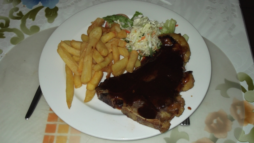 T-bone steak at the Weight Inn Hotel
