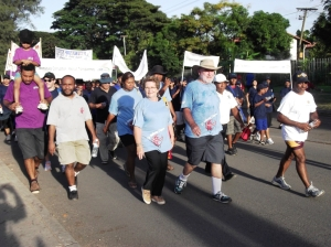 Carol Kidu - Walk Against Corruption 2012