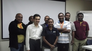 All the course participants with our instructor