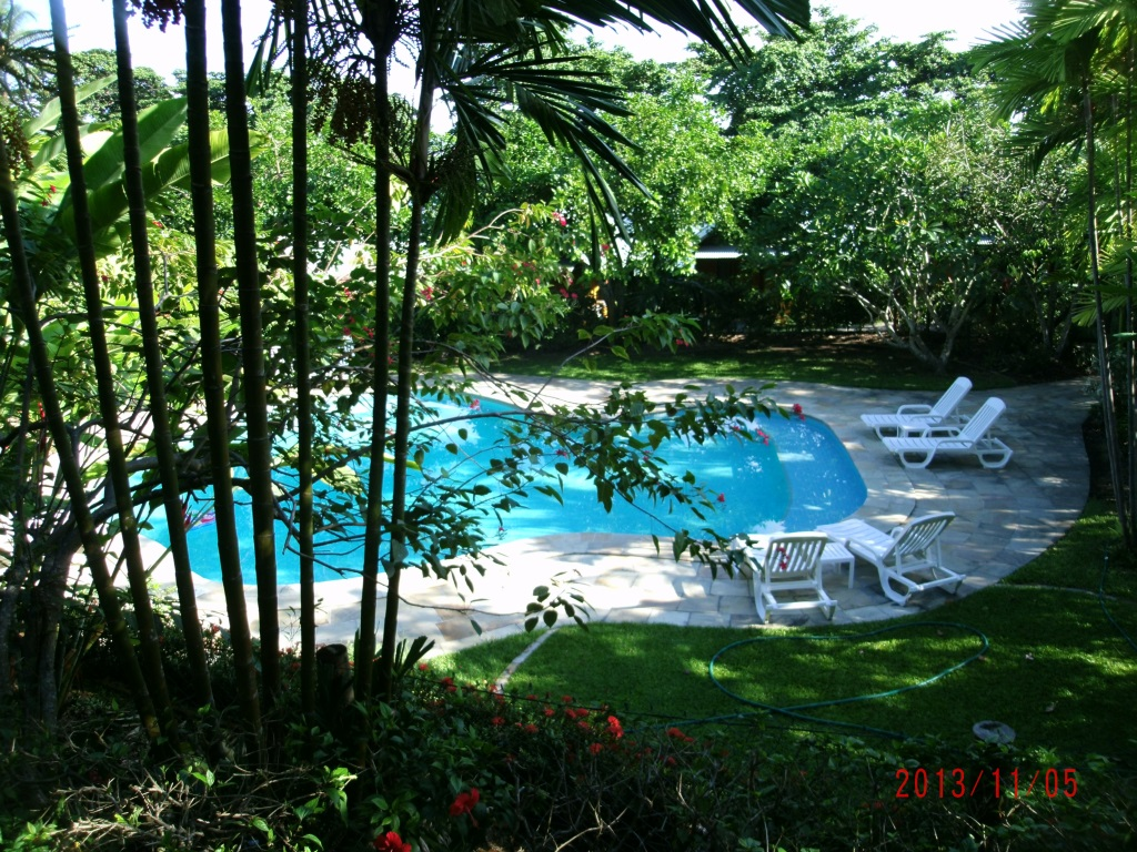 Kokopo Beach Bungalows Part - 29: The View Of The Pool From My Bungalow.