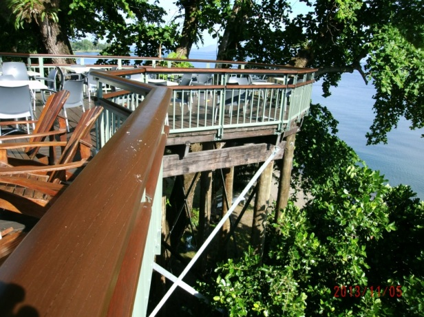 The deck - if you are not afraid of heights.