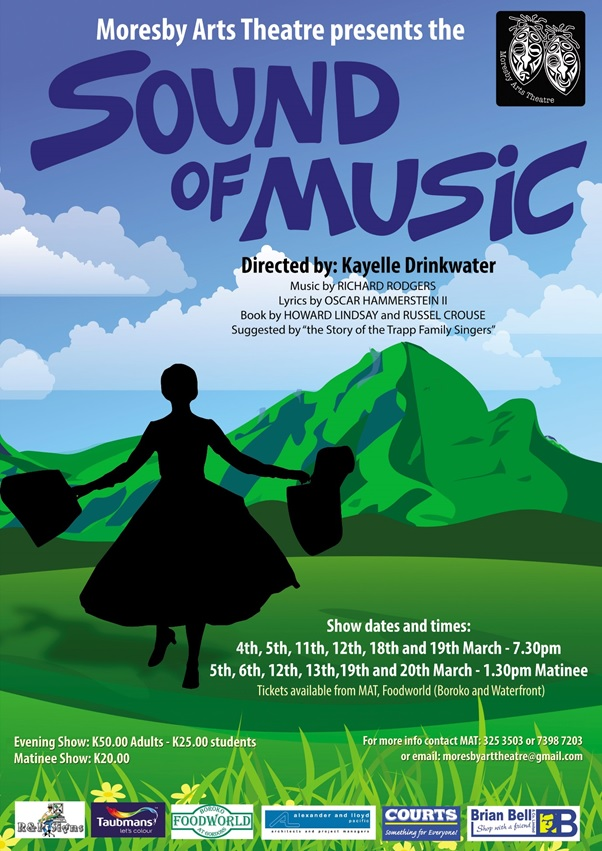 Port Moresby Arts Theatre - The Sound of Music Poster